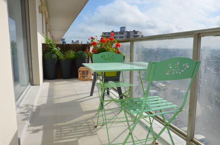 Studio plage vue ville balcon pk - Calais - Lägenhet