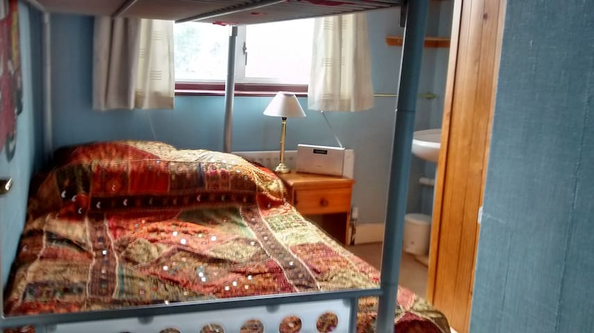 Small room with wash-basin and double bunk-bed. - Shepperton - Bed & Breakfast