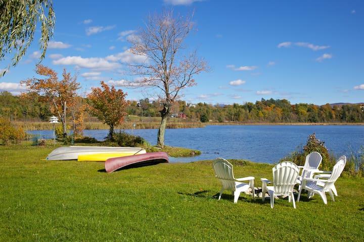 Lakefront Camp - Rural Vermont Town - Monkton - Hytte