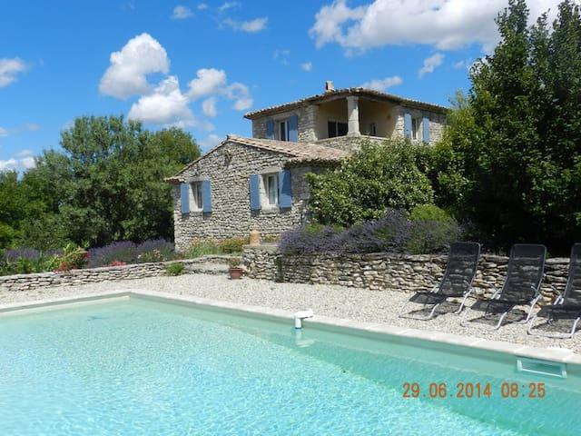 Maison de caractère en drome provencale + piscine - Chantemerle-lès-Grignan - Hus