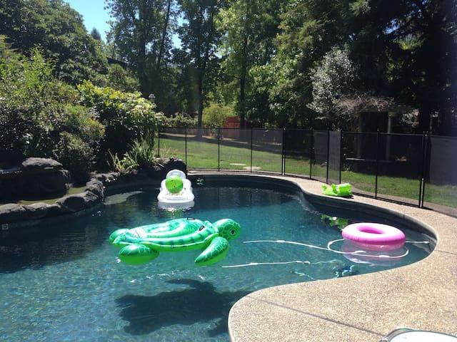Pool House Retreat Among Redwoods! - Fair Oaks