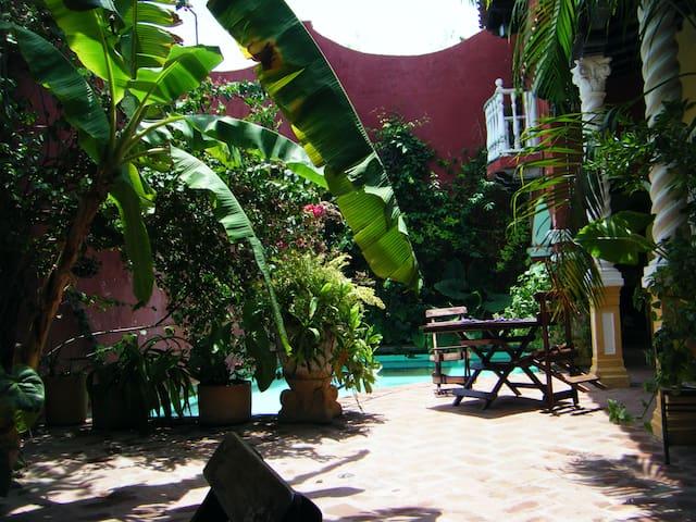 Historical home & Pool, Twin room - Cartagena