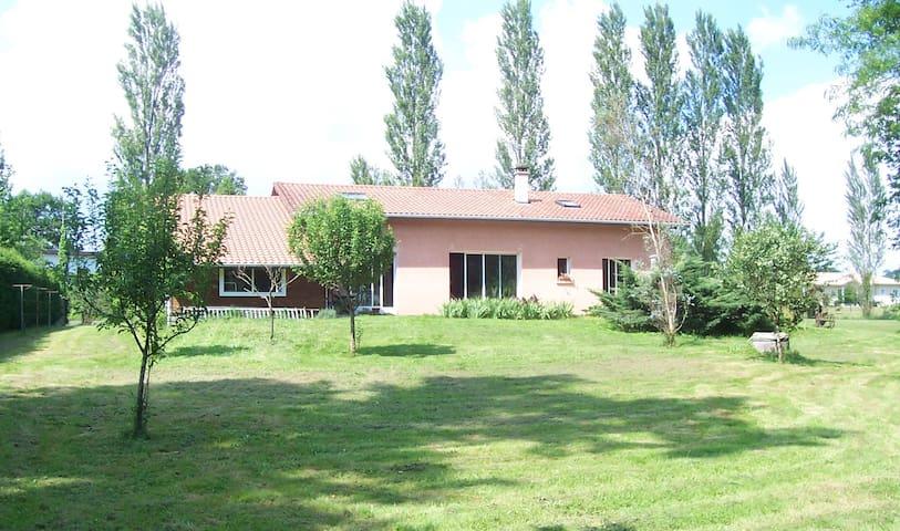 Chambre/ds maison agréable/gd esp v - Tercis-les-Bains - Casa