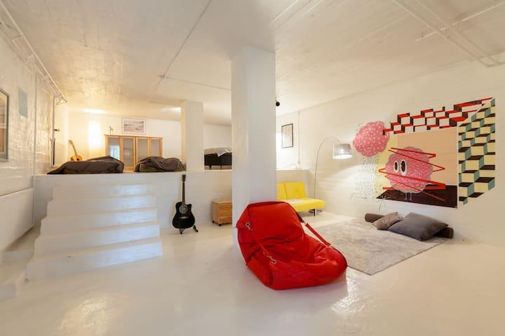 Lofty Apartment @country side Villa - Hyvinkää - Leilighet
