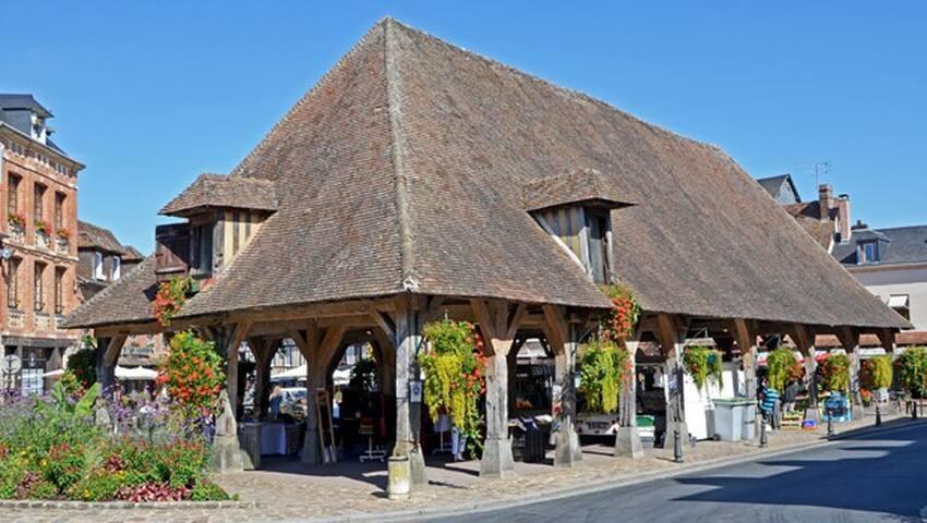 CHAMBRE PARENTALE SPACIEUSE - Lyons-la-Forêt - 家庭式旅館