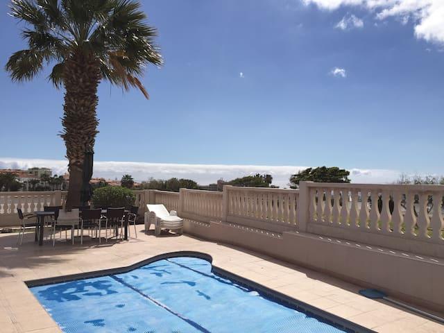 Villa, piscine, 8 pax golf mer wifi - Amarilla golf Tenerife - Rumah