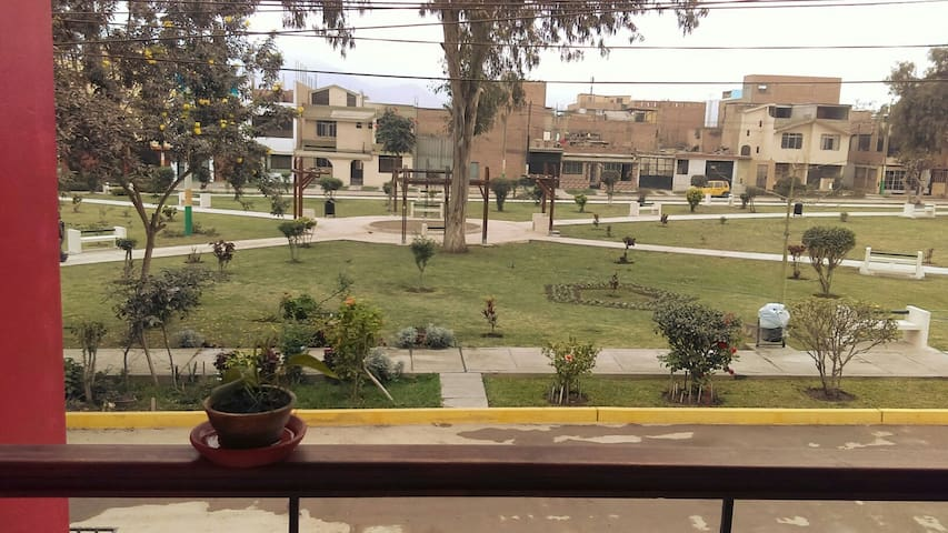 balcony overlooking the park - Los Olivos - Apartament