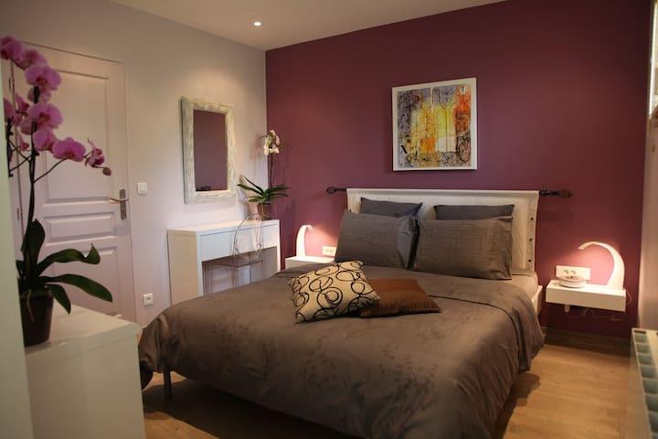 B&B BORDEAUX Bedroom Coté Vignoble - Sadirac - Bed & Breakfast