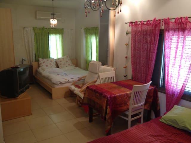 Spacious Kibbutz house. green quiet - Herev Le'et - Casa
