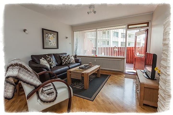 GentleSpace Apts - Túngata, 2 twin beds & sofa-bed - Ísafjörður - Lägenhet