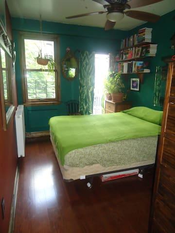 Large sunny room queen bed &balcony - New York - Leilighet