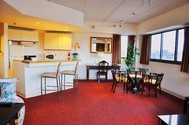1BR suite in city center NYC suburb - Stamford - Bed & Breakfast