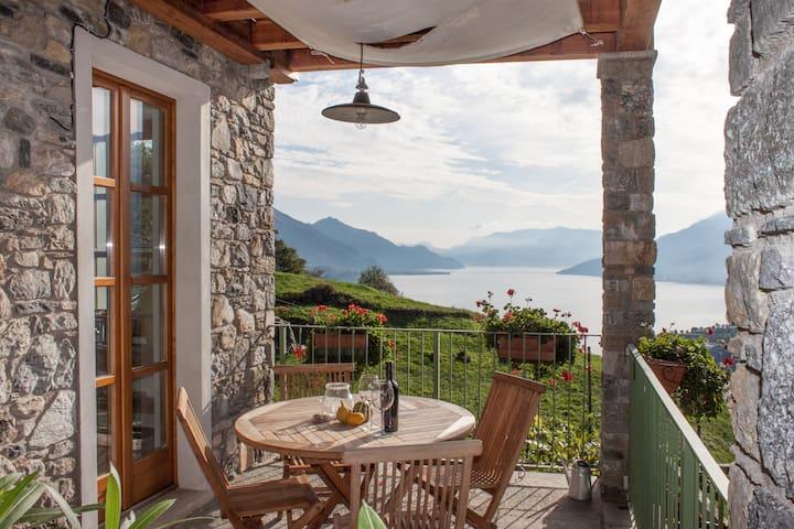 Casa vacanze con fantastica vista 2 - Gravedona ed Uniti - Rumah