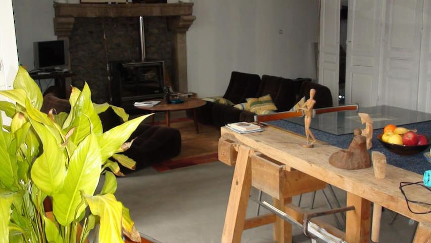 Chambre avec SDB dans appartement - Montfaucon-en-Velay - Haus