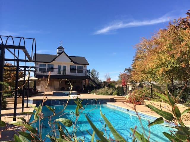 Cottage Pool House, Large Balcony, - Auburn - Kabin