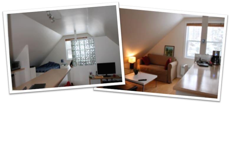 Cozy quiet private loft close to town - Sherbrooke - Loft