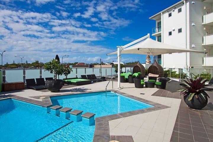 penthouse level pool view apartment - Ballina