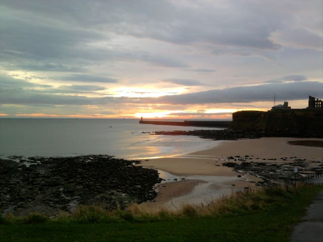 Sunny, warm room, private bathroom and lounge. - Tynemouth