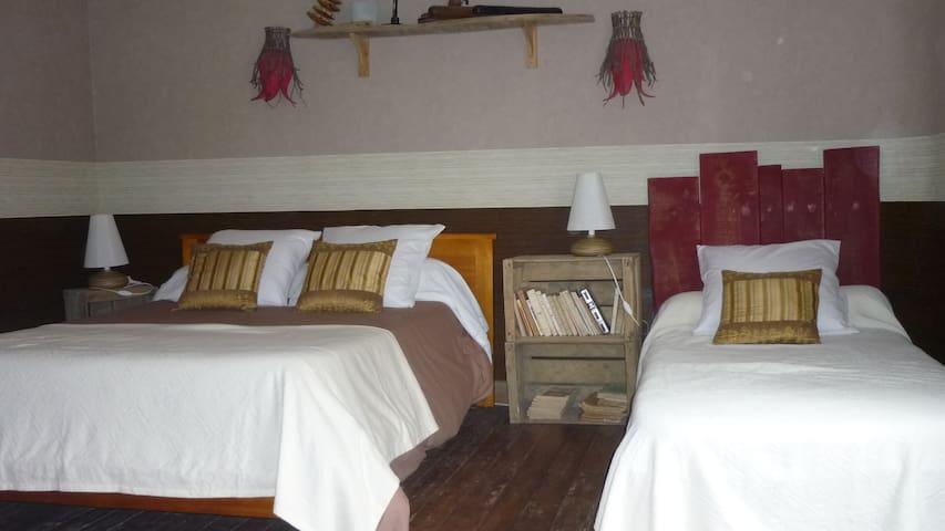 CHAMB.-TABLES D'HÔTES LA RENAUDIERE - Thugny-Trugny - Bed & Breakfast