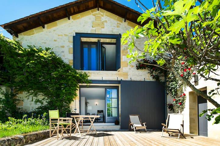 Grande Chambre Privée avec Piscine - Saint-Philippe-d'Aiguille - Bed & Breakfast