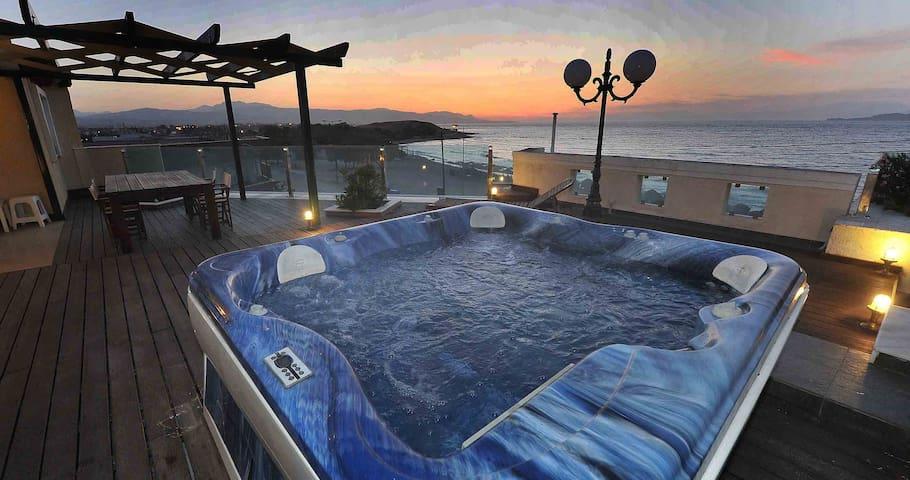Corinth seaside rooftop apartment - Archeo Limani Corinth - Departamento