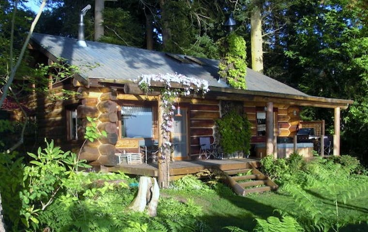 The Log Cabin on Hood Canal Bluff - Hansville - Rumah