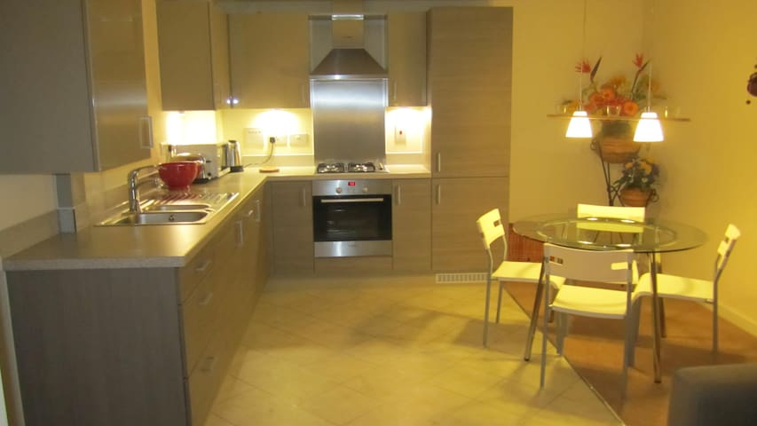 Contemporary 2 bed 2 bath apartment - Kingston upon Thames - Leilighet