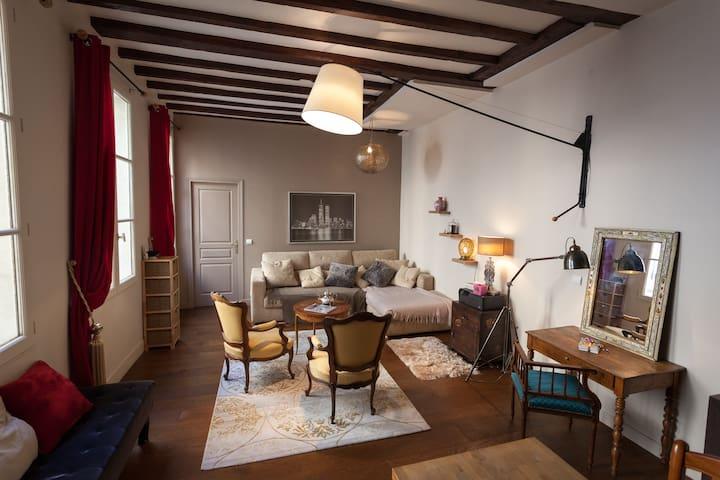 Beautiful cosy bedroom Marais-Répu. - Paris