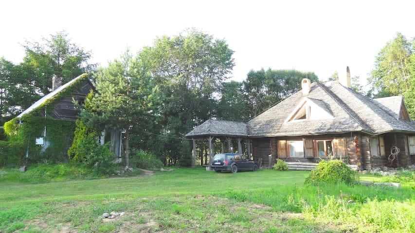 Luxury Log House & Farm Property - Krasnopol - Stuga