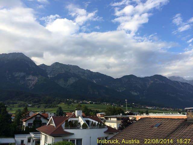 Stilvolles Appartment mit Terrasse und Parkplatz - Innsbruck - Daire