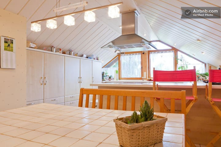 Wohn/Schlafzimmer mit Balkon - Obermichelbach - Daire