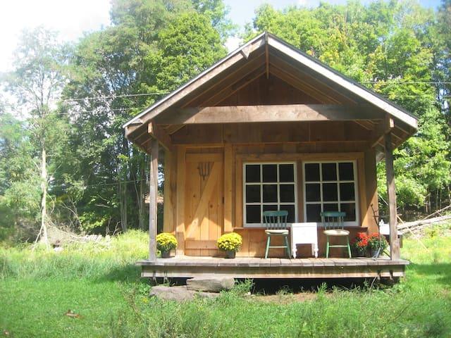 Catskills FarmHand Cabin on Farm - East Meredith - Houten huisje