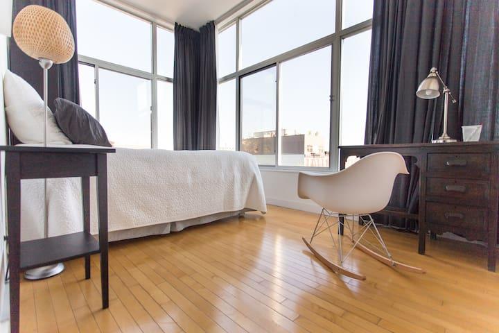 Sunny room in modern apartment - Brooklyn - Departamento