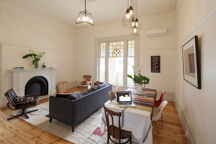 2BD - Stylish Spacious Grand Victorian Apartment - Elsternwick - Apartment