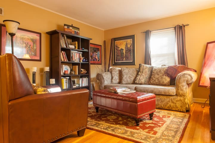 Queen Bed in Private Room Near NYC - Teaneck - Casa