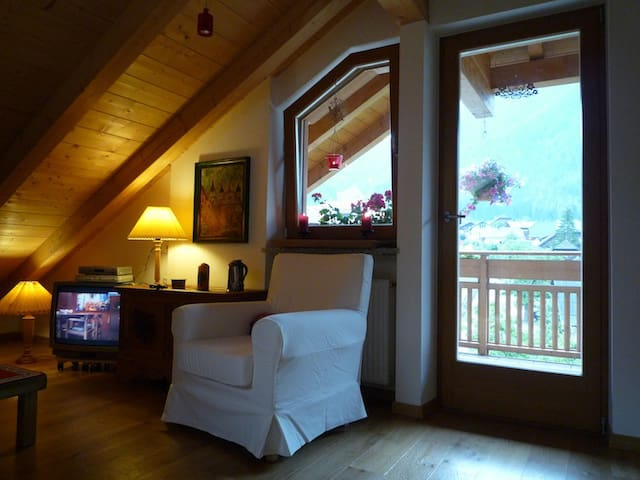 Charming penthouse apartment  - Rasun di Sopra - Huis