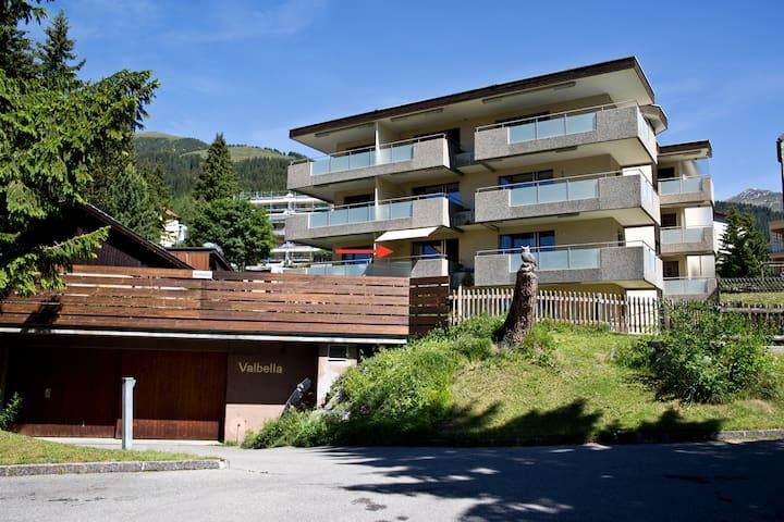 Studio mit Südbalkon, zentrale Lage - Davos - Apartament
