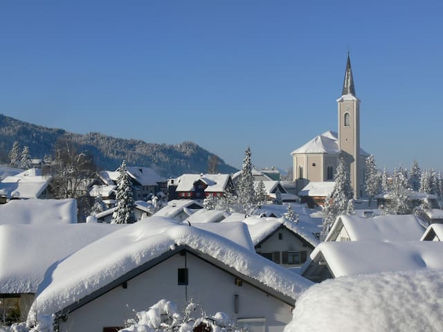 Guest room with private facilities & great view - Alberschwende - Daire