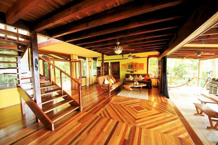 Casa Rio Sierpe----New Rain forest & Waterfront Hm - Osa Peninsula - Huis