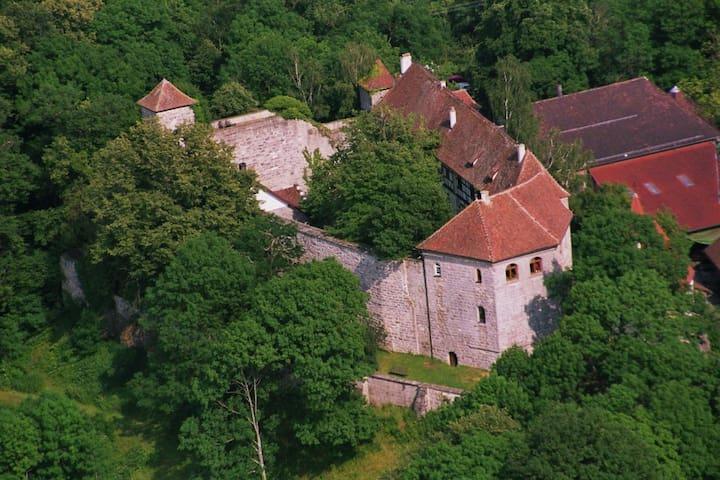 Romantische Ferienwohnung i.d. Burg - Bühlertann - Leilighet