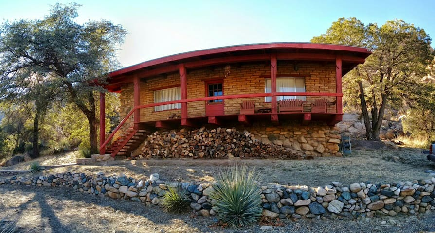 Adobe and Wood Cabin in Cochise Stronghold Canyon - Cochise