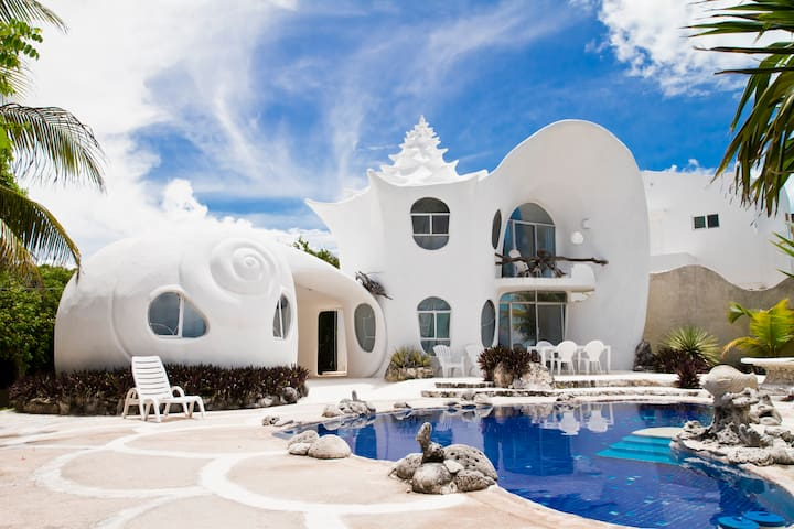 The Seashell House ~ Casa Caracol - Исла-Мухерес - Дом