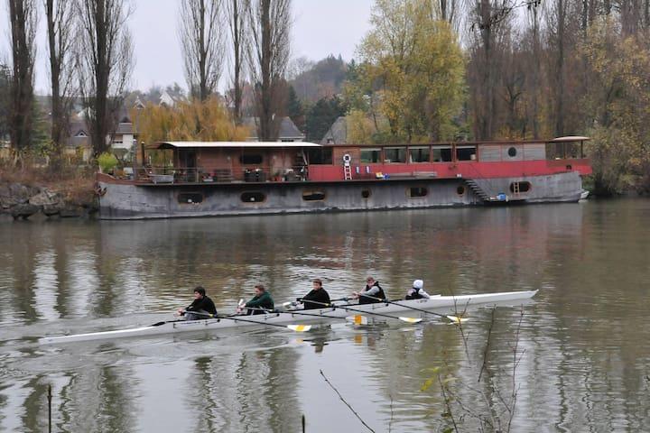 Houseboat for rent Auvers sur oise - Auvers-sur-Oise - Boot