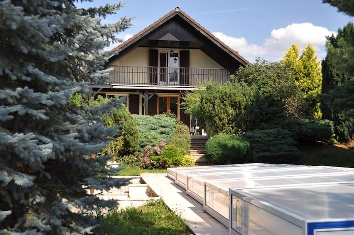 Villa house pool border Geneva  - Viry - Hus