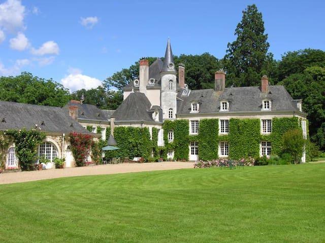 Chambre dans un château de famille - La Jaille-Yvon - Kastil