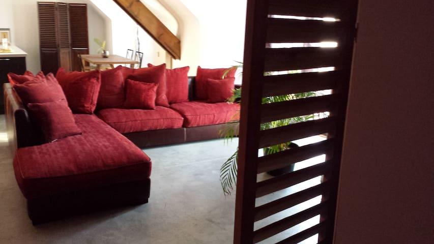 Big village penthouse apartment near Lake - Bigonville - Leilighet