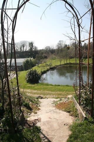 Summerhouse Cabin overlooking ponds - East Allington - Cabaña