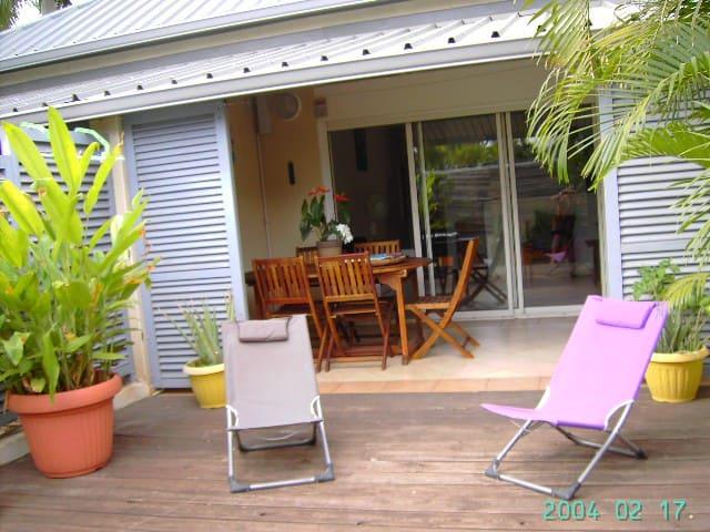 bungalow 50m2 situé face au lagon - La Saline-Les-Bains - Lägenhet