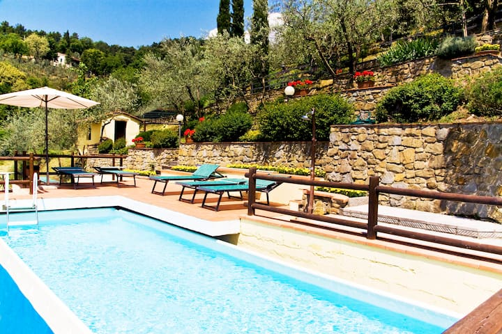 Caserío en las colinas del Chianti - Loro Ciuffenna - Villa