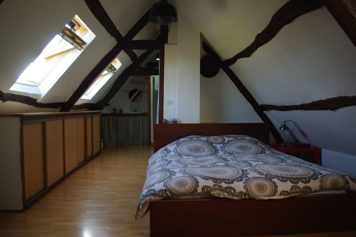 Room in a renovated farmhouse - Méricourt-l'Abbé - Casa